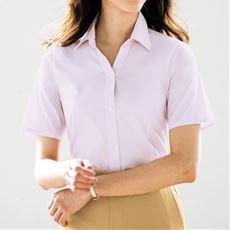 形態安定2枚組ベルカラーシャツ(半袖)(洗濯機OK・S~3L)