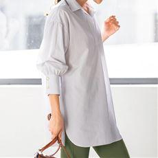 ビッグシルエットシャツ(接触冷感・吸汗速乾・UVカット・抗菌防臭・形態安定)