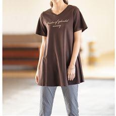プリントロングフレアTシャツ(S~5L)