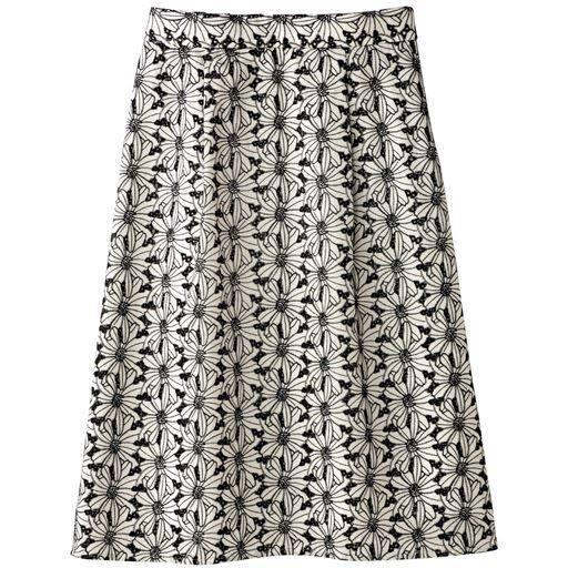 刺繍レース台形スカート(選べる2レングス・接触冷感)