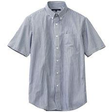 ジャストライトコットン先染めシャツ(半袖) こだわりメンズのための上質素材