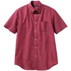きれいめ仕上げリネンブレンドシャツ(半袖)