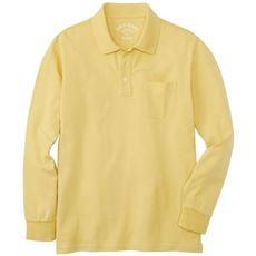 綿100%ポロシャツ・長袖(S~7L展開) メンズセシールを代表するアイテム