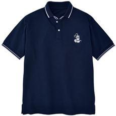 ドライ・リブ使いデザインポロシャツ