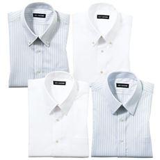 出張や洗い替えに最適な形態安定Yシャツ(長袖)(S~5L)