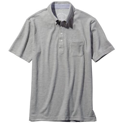 ボタンダウンタイプのドライ鹿の子素材ポロシャツ(半袖)