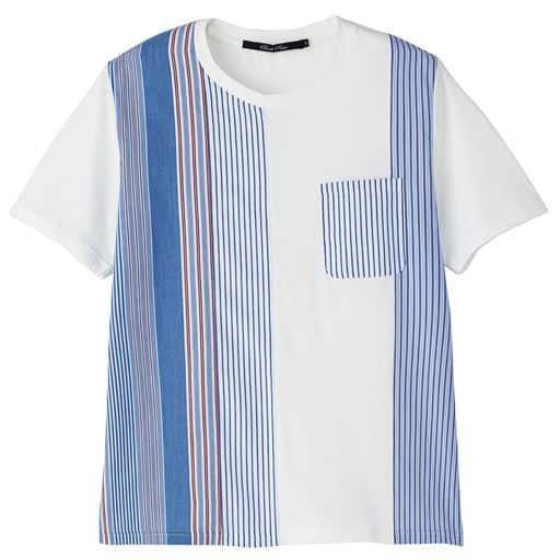 ドライ・シャツ素材切替デザインTシャツ
