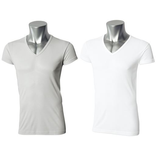 男の汗消臭・抗菌防臭スマートドライ1分袖深Vネックシャツ