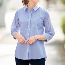 【ぽっちゃりさんサイズ】形態安定レギュラーカラーシャツ(7分袖)(UVカット・抗菌防臭) グラマーさん用サイズ有(胸のサイズで選