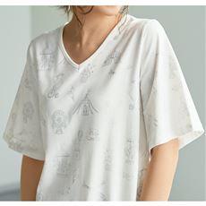 【ぽっちゃりさんサイズ】箔プリントTシャツ