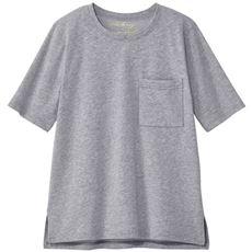 【ぽっちゃりさんサイズ】汗ジミ防止ポケット付きゆったりTシャツ