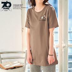 【ぽっちゃりさんサイズ】半袖Tシャツ(ピーナッツ)