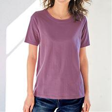 【ぽっちゃりさんサイズ】シンプルクルーネックTシャツ(半袖)