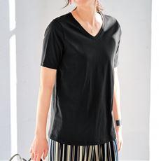 【ぽっちゃりさんサイズ】シンプルVネックTシャツ(半袖)