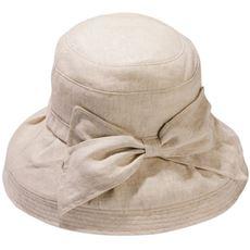 【ぽっちゃりさんサイズ】つばが広めの麻100%帽子