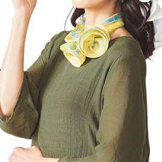 シルクスカーフ(絹100%・日本製)