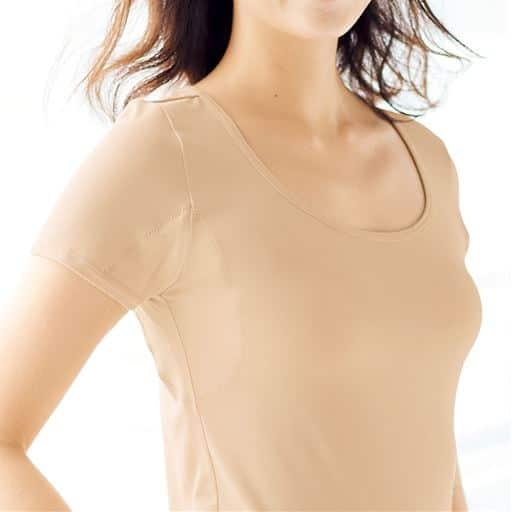 スマートドライ® 汗取りパッド付き半袖(防水布ありの大きな強力汗取りパッド付き)