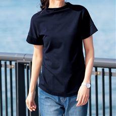 スマートドライボトルネックTシャツ(接触冷感・吸汗速乾・抗菌防臭・UVカット)
