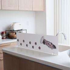 水はね防止ボード(猫の足あと・キッチン用)