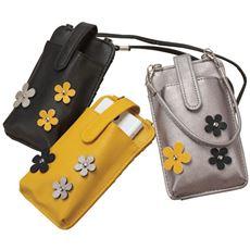 花柄モチーフ携帯ケースお財布機能付