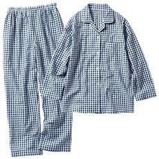 さらっと涼しいサッカー素材のシャツパジャマ