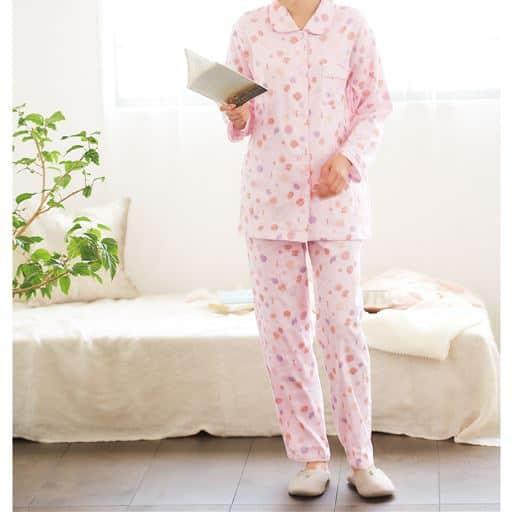 日本製の三重ガーゼパジャマ(綿100%)