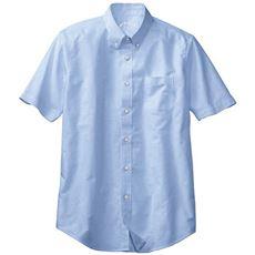 綿100%オックスフォードシャツ(半袖)