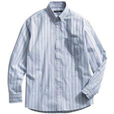 ナチュラルストレッチ素材シャツ/綿100%