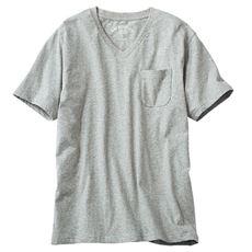 オーガニックコットン100% Tシャツ/Vネック(半袖)