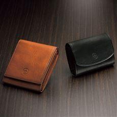 イタリアンレザーコンパクト折り財布(ダコタ)