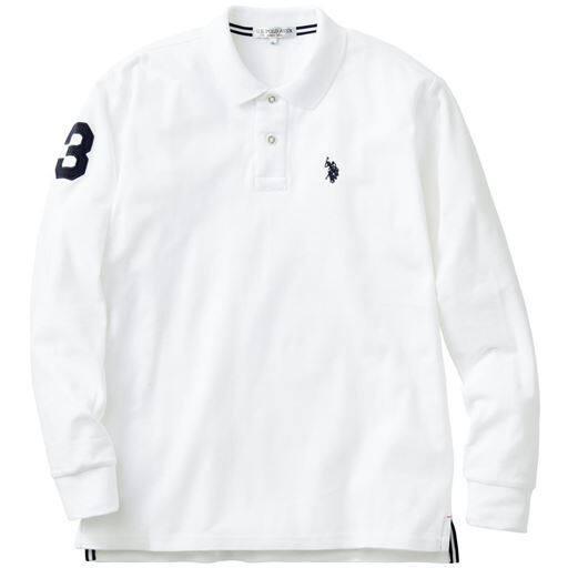綿100%長袖ポロシャツ(USポロアッスン)