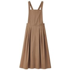 【ぽっちゃりさんサイズ】チノロングジャンパースカート(UVカット・接触冷感)