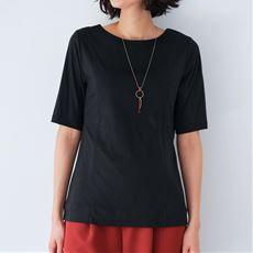 2枚仕立てクルーネックTシャツ(グラマーさん用サイズ有)(胸のサイズで選べる)【ぽっちゃりさんサイズ】