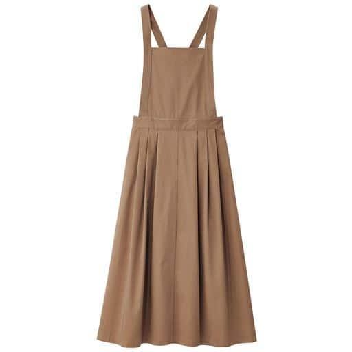 【ぽっちゃりさんサイズ】チノジャンパースカート(UVカット・接触冷感)