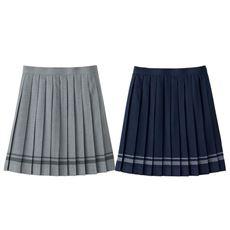 日本製ライン入りプリーツスカート(スクール・制服)