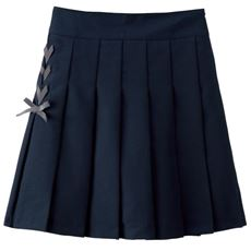 インナーパンツ付き レースアッププリーツスカート(スクール・制服)