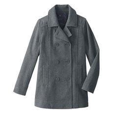 静電気防止機能付き 定番ピーコート(スクール・制服)
