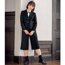 卒業式・入学式に!ガウチョパンツスーツ4点セット(スクール・制服)