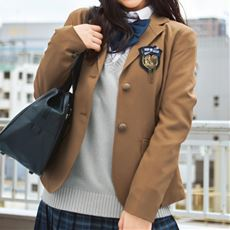 SPIRAL GIRL エンブレム付きブレザー (スクール・制服)