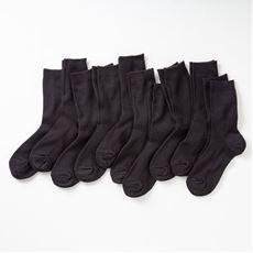 ファミリーソックス・同色10足組(家族ではける定番靴下 21cm~27cm)(クルー丈)