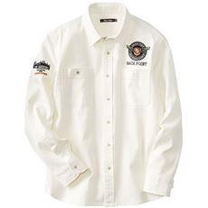 ストレッチ・刺繍&ワッペン使いシャツ
