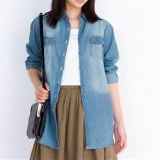 ロングシャツ(綿100%)