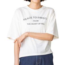 プリントゆったりTシャツ
