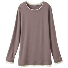 スマートヒート配色使いクルーネックTシャツ(静電気防止・吸湿発熱・吸汗速乾)