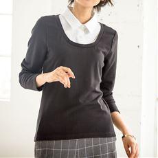 スマートヒートシャツ衿付きプルオーバー(吸湿発熱・遠赤外線効果・静電防止・吸汗速乾)