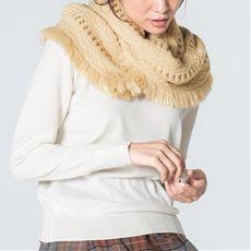 透かし編みスヌード