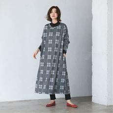 【NET限定】裏シャギー 脇スリット Iラインワンピース