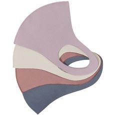 洗える3Dマスク(抗菌防臭・UVカット・吸水速乾・接触冷感)(3枚組)【パステルマスク】
