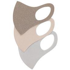 洗える3Dマスク(シアバター配合)(抗菌防臭・UVカット)(3枚組)【パステルマスク】
