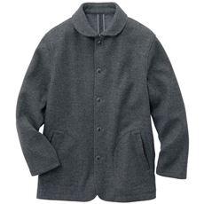 伸縮するウール混メルトン素材ジャケット